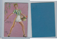 W424 Mutoscope Blotter Cut Pin Up Girls, 1940's, Come On We're Late