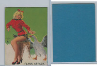 W424 Mutoscope Blotter Cut Pin Up Girls, 1940's, Flank Attack