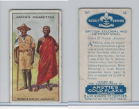 A66-15 Anstie Cigarettes, Scout Series, 1923, #40 Scouts & Native Ashantee