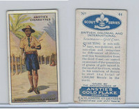 A66-15 Anstie Cigarettes, Scout Series, 1923, #44 Scoutmaster Gold Coast