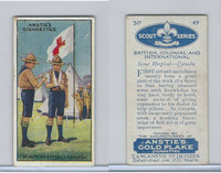 A66-15 Anstie Cigarettes, Scout Series, 1923, #49 Scout Hospital Canada