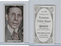 A72-23 Ardath Tobacco, Famous Film Stars, 1934, #14 George Arliss