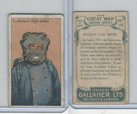 G12-19 Gallaher, The Great War, 1915, #116 Poison Gas Mask