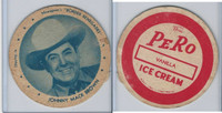 F5-16 Dixie Cup, 1950, Movie Stars, Large Size, Johnny Mack Brown