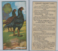 V12 Cowan, Chicken Cards, 1924, Cornish Game