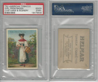 T52 Helmar, Costumes & Scenery, 1912, Girl from Baden, PSA 2 MK Good