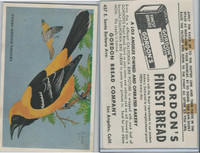 D39-2b, Gordon Bread, California Birds, 1940's, Arizona Hooded Oriole