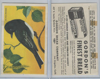 D39-2b, Gordon Bread, California Birds, 1940's, Black Phoebe