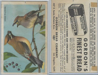 D39-2b, Gordon Bread, California Birds, 1940's, Cedar Waxwing