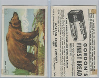 D39-12 Gordons Bread, California Animal, 1940's, Grizzly Bear