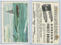 D39-12 Gordons Bread, California Animal, 1940's, Pacific Right Whale