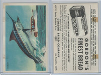 D39-13 Gordons Bread, Denizens Of Deep, 1950's, Marlin Fish