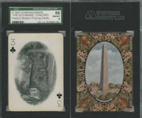 PL Card, Chisholm, Historic Boston, 1897, C3, Old Manse Concord, SGC 88 NMMT