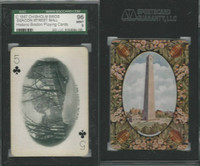 PL Card, Chisholm, Historic Boston, 1897, C5, Beacon Street Mall, SGC 96 Mint