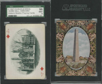 PL Card, Chisholm, Historic Boston, 1897, D4, Harvard Gore Hall, SGC 96 Mint