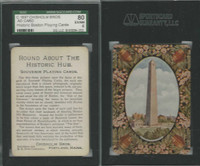 PL Card, Chisholm, Historic Boston, 1897, AD Card, SGC 80 EXMT