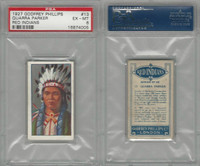 P50-78 Phillips, Red Indians, 1927, #13 Quarra Parker, PSA 6 EXMT
