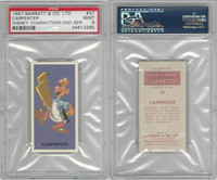 B0-0 Barratt, Walt Disney Characters, 1957, #37 Carpenter, PSA 9 Mint
