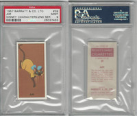 B0-0 Barratt, Walt Disney Characters, 1957, #39 AM Cat, PSA 9 Mint