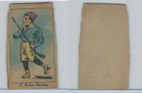 W542, Strip Card, Sports Drawings, 1920's, #6 Roller Skating