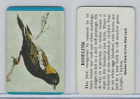 F279-3 Quaker, Pack-O-Ten Bird Cards, 1957, Bobolink