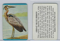 F279-3 Quaker, Pack-O-Ten Bird Cards, 1957, Great Blue Heron