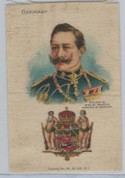 S78 American Tobacco Silk, Ruler & National Arms, 1910, Germany, William III