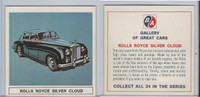 UO63 BA Oil, Gallery of Great Cars, 1967, Rolls Royce Silver Cloud