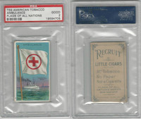 T59 American Tobacco, Flags of all Nations, 1910, Ambulance, PSA 2 Good