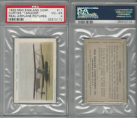E195 New England Confectory, Airplane, 1930's, #11 Curtiss Tan, PSA 4 VGEX