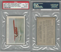 E195 New England Confectory, Airplane, 1930's, #12 Bellanca, PSA 6 MC EXMT