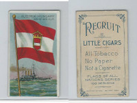 T59 American Tobacco, Flags of all Nations, 1910, Austria Hungary Man of War