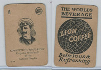 K Card Lion Coffee, Politicians, 1905, #N10 Emperor Wilhelm II, Germany