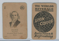 K Card Lion Coffee, Politicians, 1905, #N13 President Emile Loubet, France