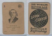 K Card Lion Coffee, Politicians, 1905, #N14 President Emile Loubet, France