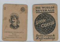 K Card Lion Coffee, Politicians, 1905, #N11 Emperor Wilhelm II, Germany