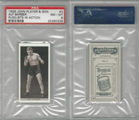 P72-198 Player, Pugilists In Action, 1928, Boxing, #3 Alf Barber, PSA 8 NMMT