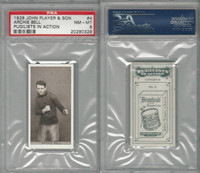 P72-198 Player, Pugilists In Action, 1928, Boxing, #4 Archie Bell, PSA 8 NMMT