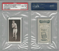 P72-198 Player, Pugilists In Action, 1928, Boxing, #13 J. Cuthbert, PSA 8 NMMT