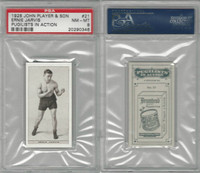 P72-198 Player, Pugilists In Action, 1928, Boxing, #21 Ernie Jarvis, PSA 8 NMMT