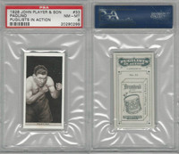 P72-198 Player, Pugilists In Action, 1928, Boxing, #33 Paolino, PSA 8 NMMT