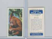 B0-0 Brooke Bond Tea, Asian Wild Life, 1962, #2 Orang-Utan