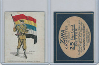T105 Zira Cigarettes, Standard Bearers, 1910, China (Blue Border)