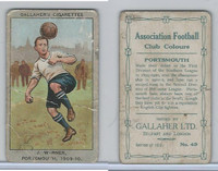 G12-13 Gallaher, Ass. Football Club Colors, 1910, #43 Warner, Portsmouth