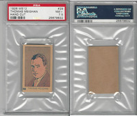 W512 Strip card, Famous People, 1926, #29 Thomas Meighan, PSA 7.5 NM+