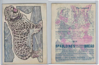 D50 Bakeries, Magic Cards Of Knowledge, 1930's, #30 Leopard
