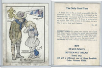 D50 Bakeries, Magic Cards Of Knowledge, 1930's, #49 Boy Scout, Good Turn