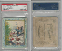 T62 Turkish Trophies, Fortune Series, 1910, Bliss Will Be, PSA 1