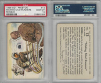F279-4 Quaker Oats, Sergeant Preston Cards, 1956, #13 Mud Runners, PSA 10 Gem