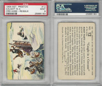 F279-4 Quaker Oats, Sergeant Preston Cards, 1956, #12 Crevasse, PSA 9 Mint